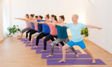 Yoga-Anfängerkurs in Wien: Yoga-Einsteigerkurs am Dienstag um 19 Uhr mit Angelika Steinbach-Ditsch