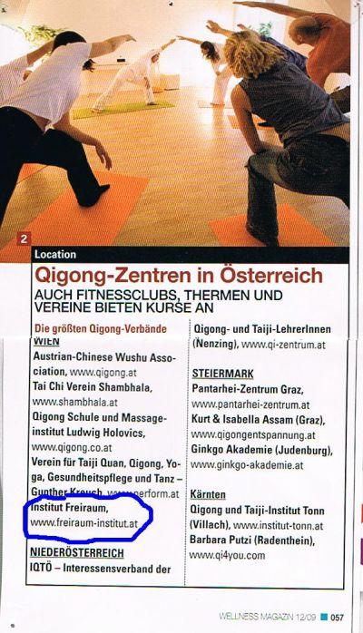 Qigong Zentren in Wien