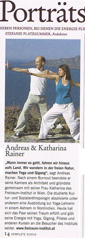 Andreas und Katharina Rainer im Complete Magazin