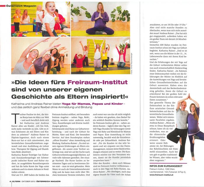 Freiraum im Eltern-Magazin-Inspiration