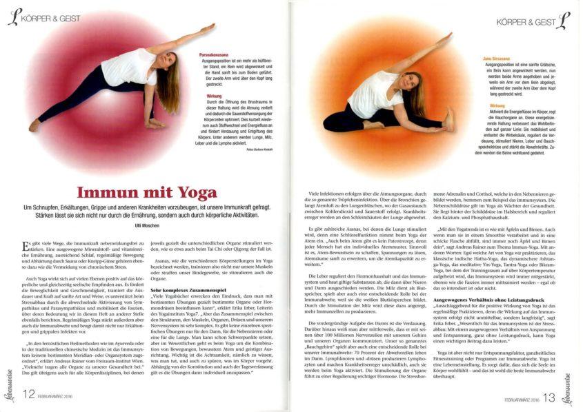 Immun mit Yoga-Körper und Geist