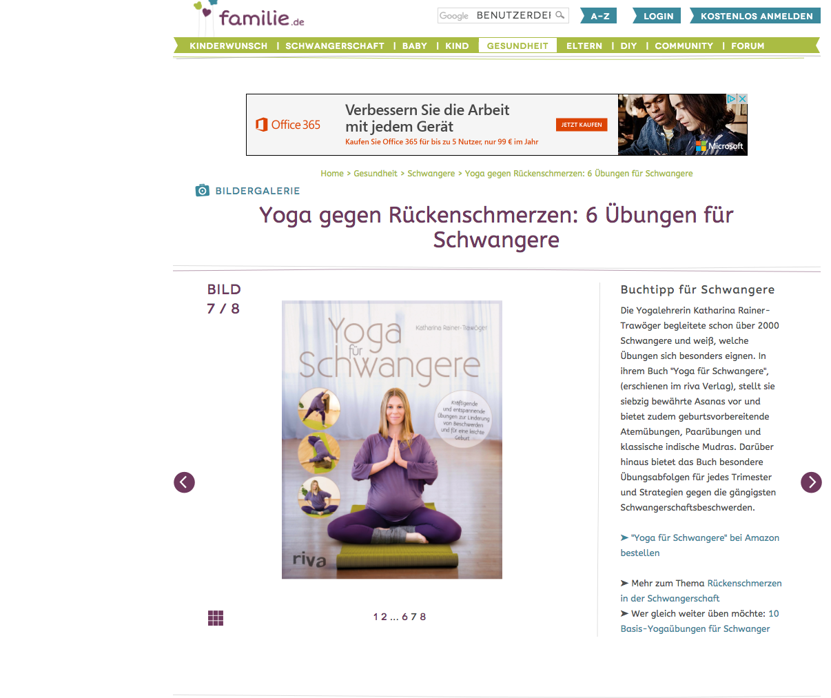 Buch Rezension Yoga für Schwangere