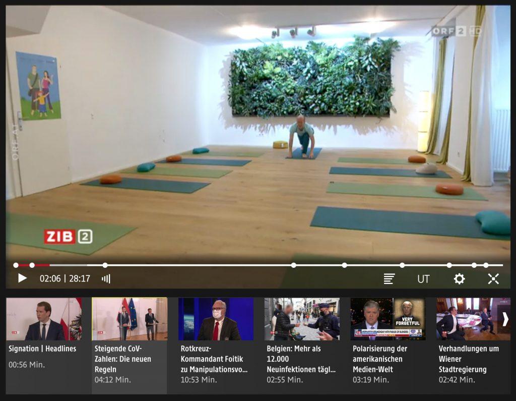 Solange keine Kund*innen zum Yoga kommen durften: alleine Yoga gemacht!