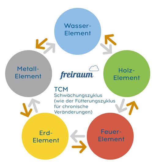 Der Schwächungszyklus der 5 Elemente in der TCM